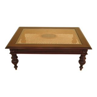 1990's Ethan Allen British Classics Cane Top Coffee Table