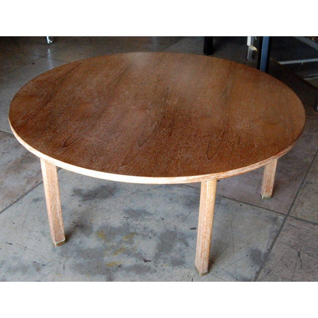Edward Wormley for Dunbar Cerused Oak Coffee Table For Sale In Los Angeles - Image 6 of 8