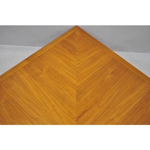 Teak 1960s Mid-Century Modern Ole Gjerlov-Knudsen & Torben Lind Moduline France & Son Corner Teak Coffee Table For Sale - Image 7 of 13