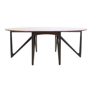 Kurt Ostervig Rosewood Gateleg / Drop-leaf Dining Table
