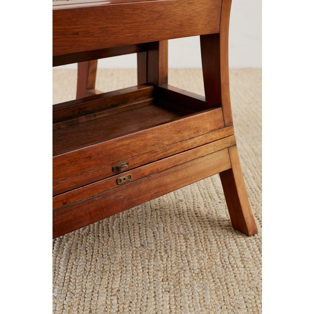 English Regency Style Mahogany Metamorphic Library Step Chair For Sale - Image 9 of 13