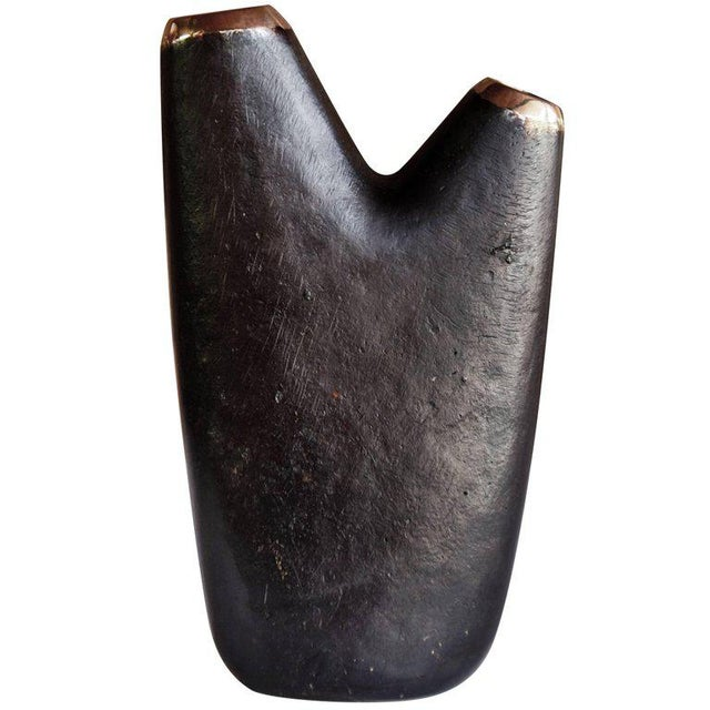 Mid-Century Modern Carl Auböck Model #3794/1 'Aorta' Brass Vase For Sale In Los Angeles - Image 6 of 13