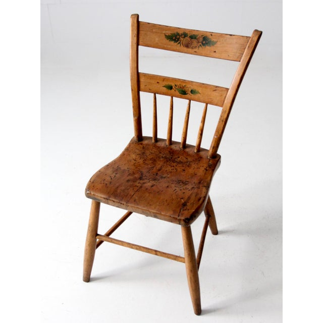 Antique Primitive Chair For Sale - Image 4 of 10