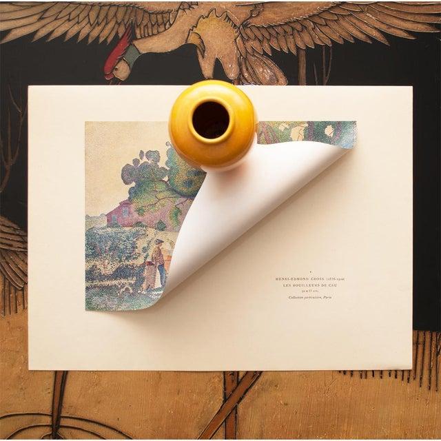 "1947 Henri-Edmond Cross, Original ""The Boilers of Cru"" Parisian Lithograph For Sale - Image 4 of 8"