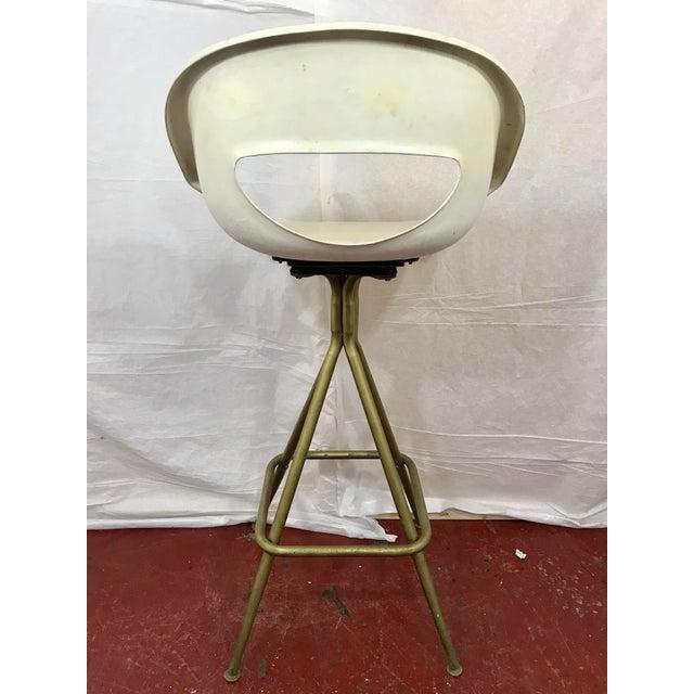 Vintage Mid Century Barstools - Set of 4 For Sale - Image 9 of 10