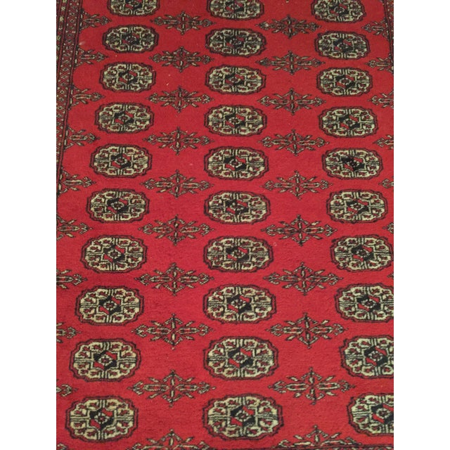 Traditional Hand Knotted Woolen Bokhara Rug - 4' x 6' For Sale - Image 3 of 10