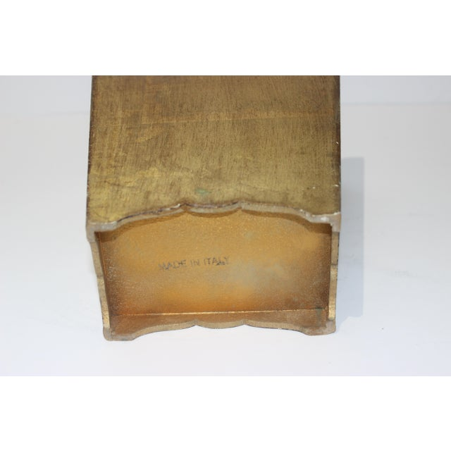 Wood Mid-Century Florentine Giltwood Wastebasket Gilt Wood For Sale - Image 7 of 11