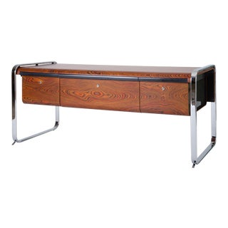 Zebrawood and Chrome Credenza by Peter Protzman for Herman Miller For Sale