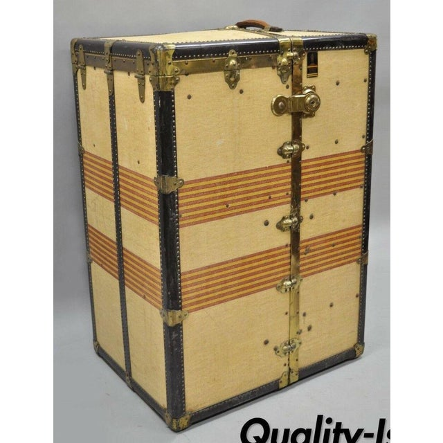 1930s Traditional Oshkosh the Chief Wardrobe Steamer Trunk For Sale - Image 13 of 13