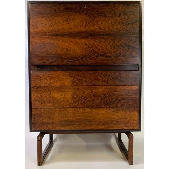 1960s Mid-Century Modern Arne Hovmand Olsen for Mogens Kold Mobelfabrik Rosewood Secretary Desk For Sale - Image 13 of 13