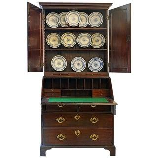 Charming Late 18th Century George III Mahogany Secretary Bookcase For Sale