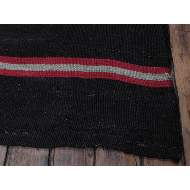 Animal Skin Large Kilim with Bright Stripes For Sale - Image 7 of 9