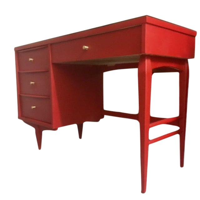 1960s Mid-Century Modern Emperor's Silk Writing Desk For Sale