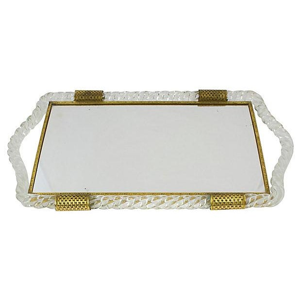 Italian Glass Vanity Tray - Image 3 of 6