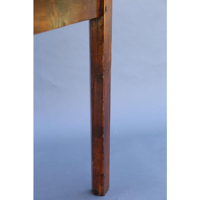 Mid 19th Century Antique English Chestnut Cricket Table, One Board Top For Sale - Image 5 of 9
