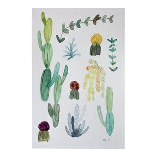Original Cactus & Succulents Watercolor Painting
