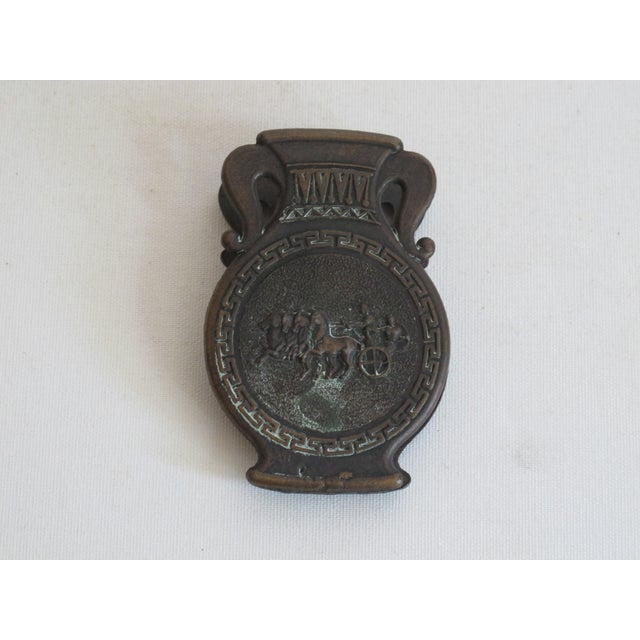 Black Grecian Style Brass Clip For Sale - Image 8 of 8