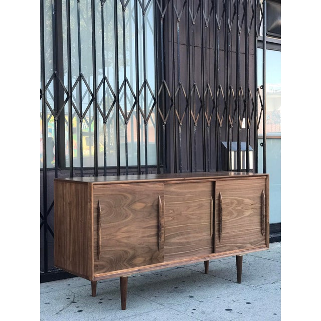 Contemporary Media Stand With Arched Handles For Sale - Image 12 of 12