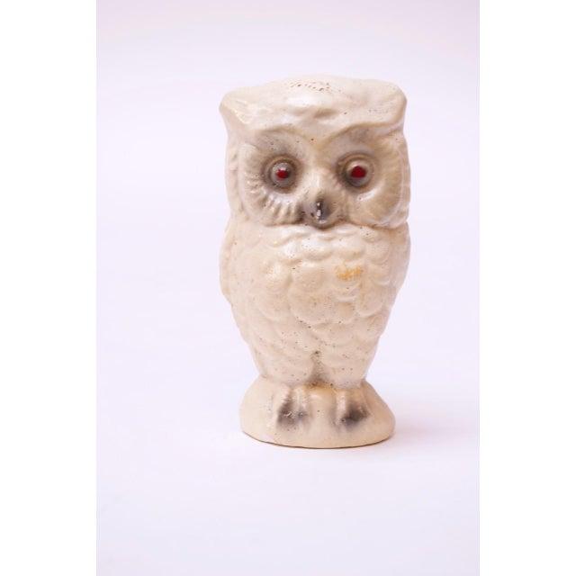 1950s Diminutive Chalkware Owl Figurine For Sale - Image 9 of 9