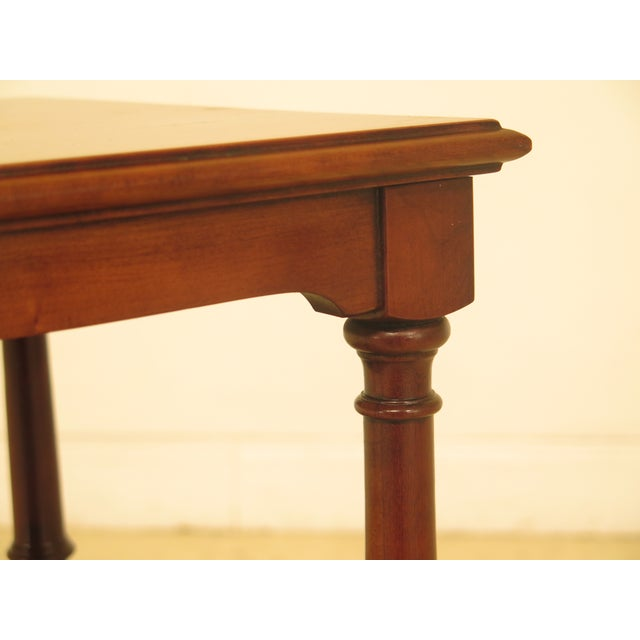 1980s 1980s Traditional Statton Solid Cherry 1 Drawer Nightstand Table For Sale - Image 5 of 9