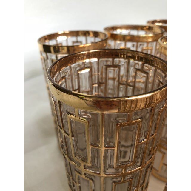 1960s 1960s Hollywood Regency 22k Gold Imperial Glass Tumblers - Set of 20 For Sale - Image 5 of 8
