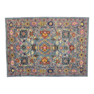 Contemporary Colorful Turkish Oushak Rug With Modern Style - 14'01 X 19'05 For Sale