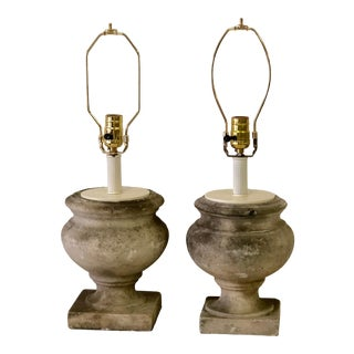 Antique French Garden Urn Lamps - a Pair For Sale