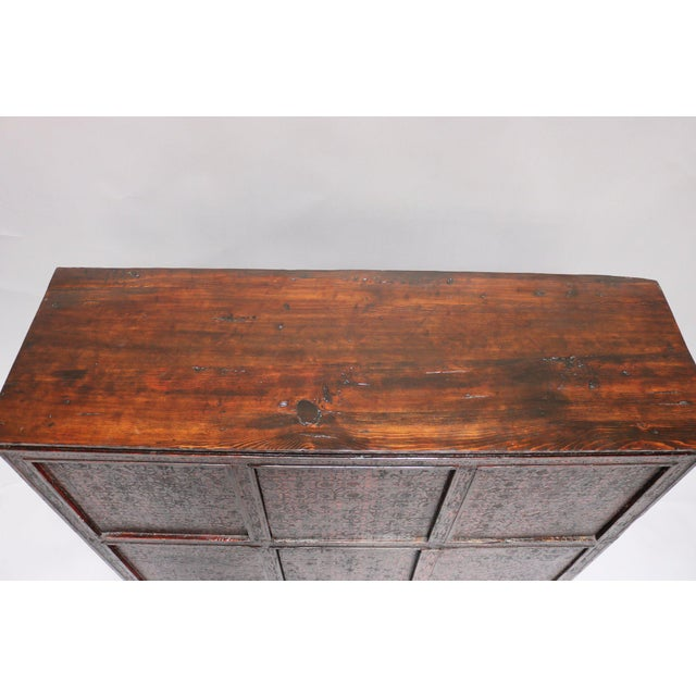 1920s 1920s Tibetan Wooden Chest For Sale - Image 5 of 6