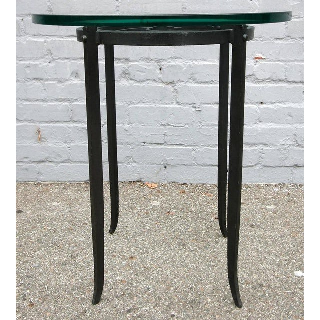 Art Deco Art Deco Glass Top Side Tables - a Pair For Sale - Image 3 of 6
