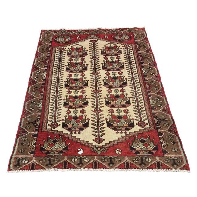 Vintage Hamadan Persian Rug - 3′6″ × 5′4″ - Image 1 of 9
