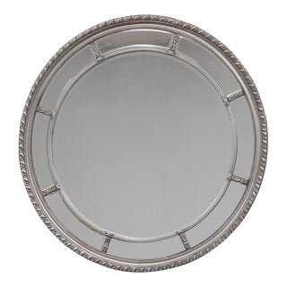 Augusta Silver Round Wall Mirror For Sale