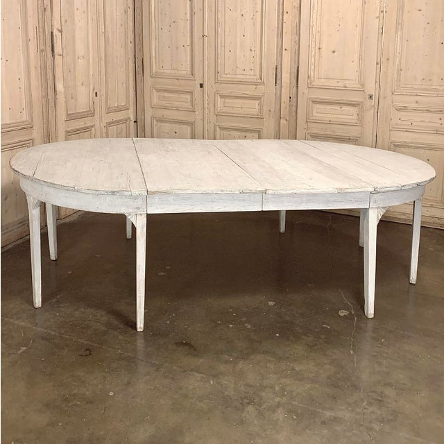 Banquet Table, Painted, Early 19th Century Swedish Gustavian Period For Sale - Image 4 of 13
