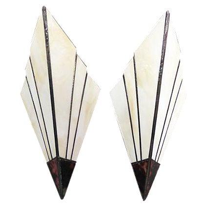 Art Deco Style Sconces - A Pair - Image 1 of 6