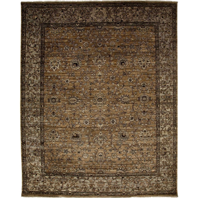 """Ziegler Hand Knotted Area Rug - 7'10"""" X 9'9"""" For Sale"""