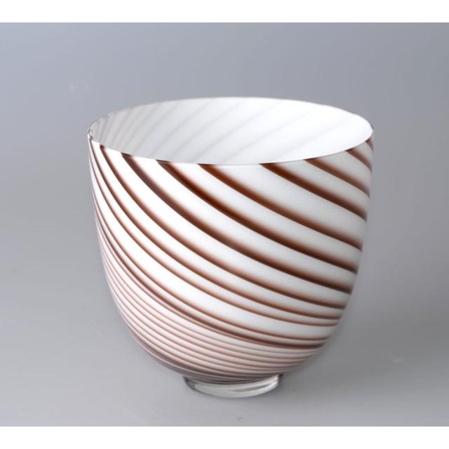 Murano Original Tommaso Barbi Italian Murano Decorative Bowl / Vase For Sale - Image 4 of 10