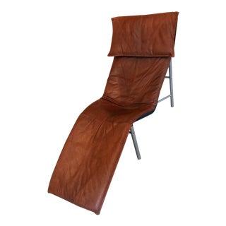1970s Vintage Tord Bjorklund Cognac Leather Skye Lounge Chair For Sale