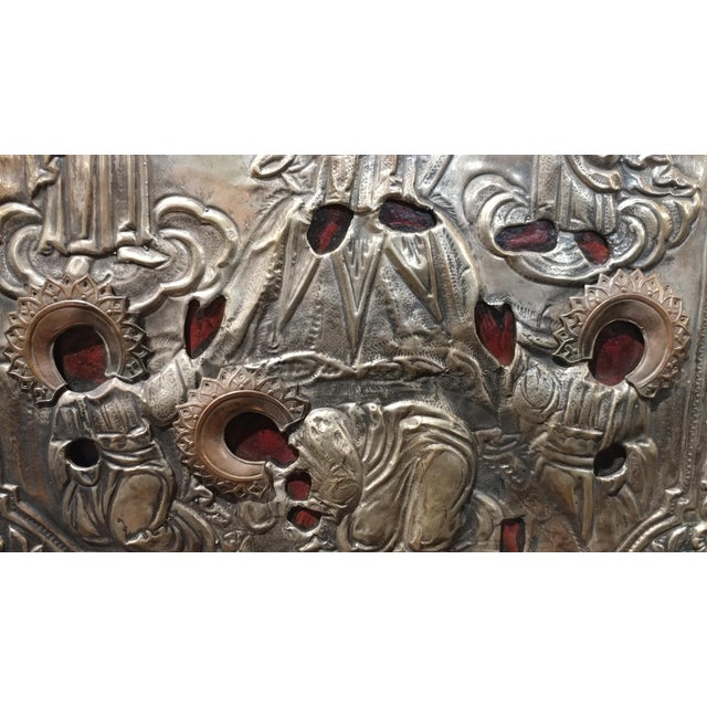 Antique Silver Plated Russian Icon - Image 5 of 8