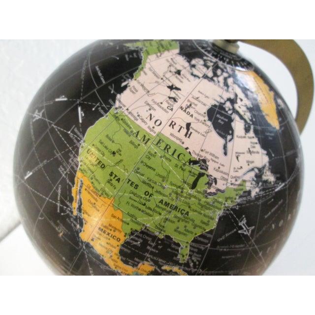 Black Spinning World Globe - Image 8 of 8