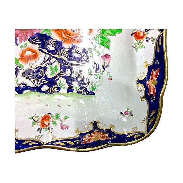 Antique Porcelain Chinoiserie Floral Dish - Image 4 of 5