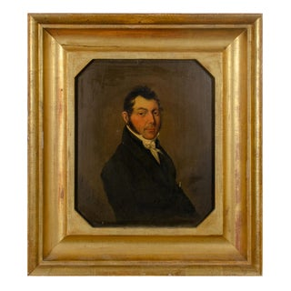 Gentleman Portrait Painting, British School, 19th Century For Sale