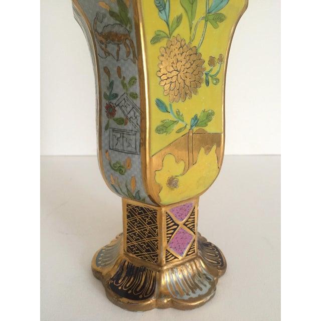 Blue Vintage Middle Eastern Multicolor Floral Ceramic Bottle For Sale - Image 8 of 11