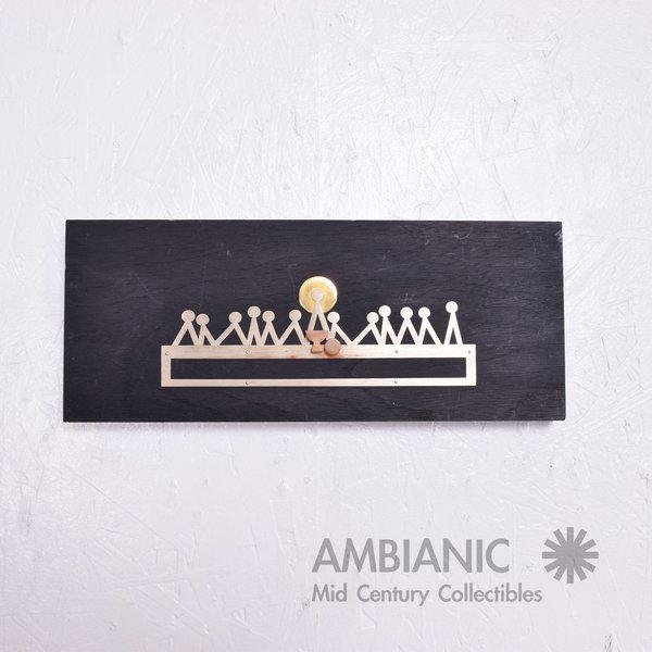 For your consideration a Mid-Century Modern wall plaque made by EAMUS. Solid mahogany wood ebonized in black paint....