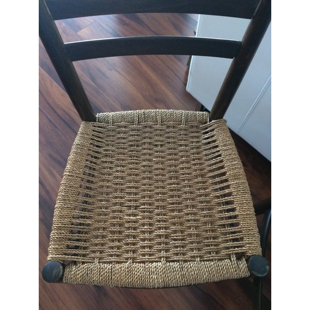 Vintage Italian Woven Seat Dining Chairs - A Pair - Image 8 of 11