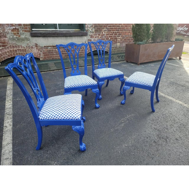 Drexel Heritage 1980s Drexel Heritage Chippendale Chairs - Set of 4 For Sale - Image 4 of 12