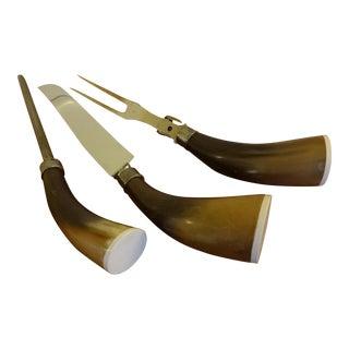Vintage Horn Handled Carving Set