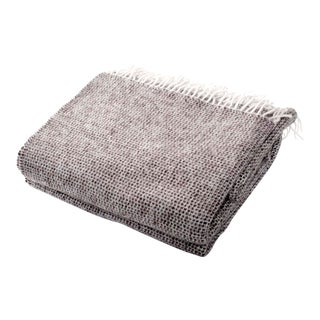 Contemporary Charcoal Chalet Throw For Sale
