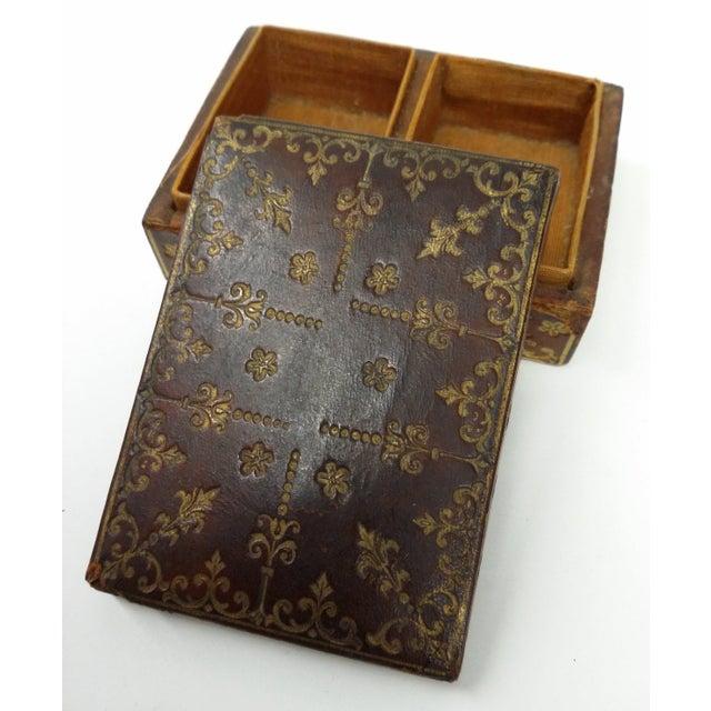 Mini Fleur-de-Lis Leather Box - Image 8 of 10