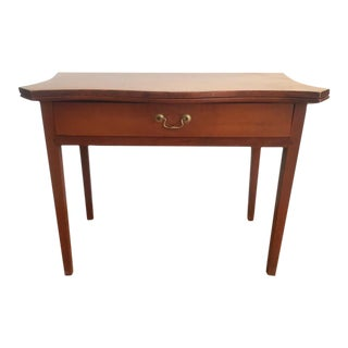 19th Century Hepplewhite Cherrywood Serpentine Game Table
