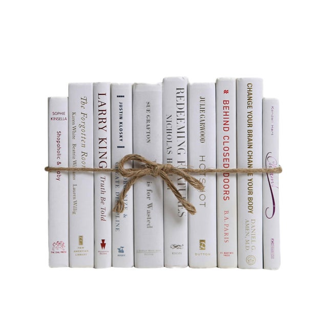 Modern Snowfall ColorPak - Decorative Books in Shades of White For Sale