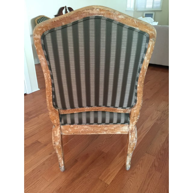 French Provincial Distressed Wood Chairs - 6 - Image 5 of 5
